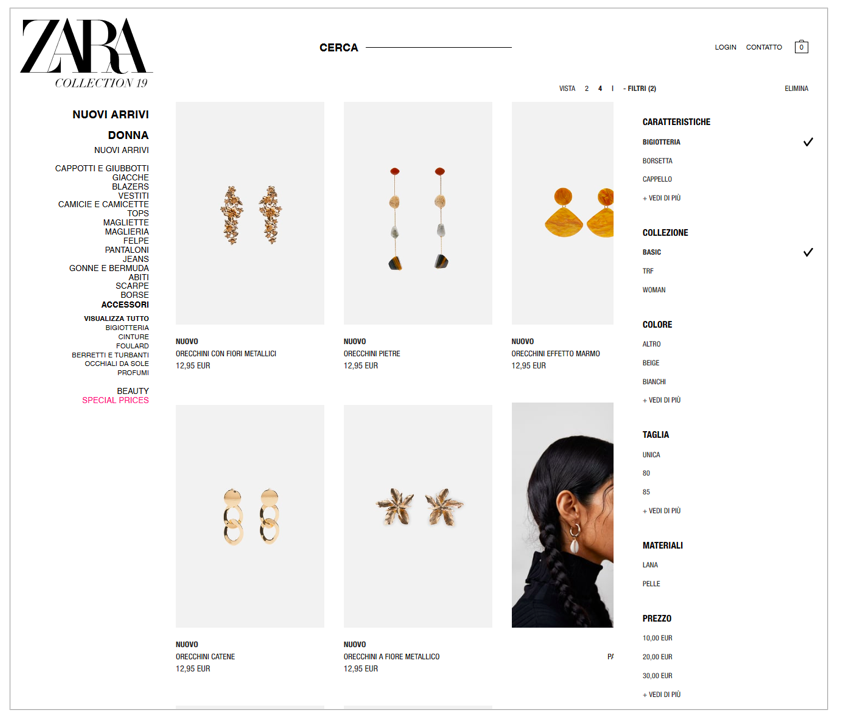 Product listing page _Zara